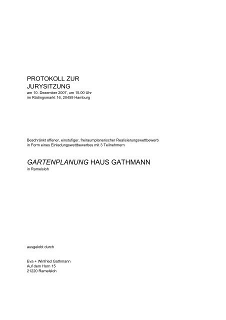 GARTENPLANUNG HAUS GATHMANN - D&K drost consult