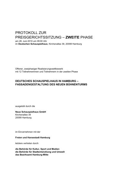 protokoll der preisgerichtssitzung - D&K drost consult