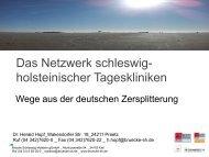 www.bruecke-sh.de Das Netzwerk schleswig- holsteinischer ...