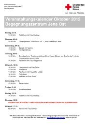 Veranstaltungen SBZ Jena Ost_10_12 - DRK-Kreisverband Jena ...