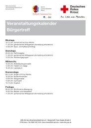 Veranstaltungskalender Bürgertreff - DRK-Kreisverband Jena ...