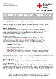 Kleiderbasar 23./ 24. März 2012