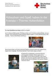 Abtauchen und Spaß haben in der Avenida – Therme Hohenfelden
