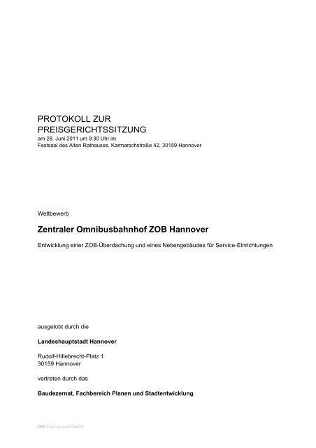 PROTOKOLL ZUR PREISGERICHTSSITZUNG ... - D&K drost consult