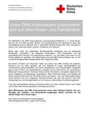 Unser DRK-Kreisverband präsentierte sich auf dem Kinder- und ...