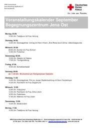 Veranstaltungen September 2012 - DRK-Kreisverband Jena ...