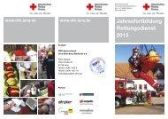 Jahresfortbildung Rettungsdienst 2013 - DRK-Kreisverband Jena ...