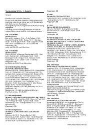 Turnuszüge 2013 – 1. Quartal - DREHSCHEIBE-Online