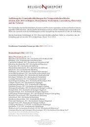 Auflistung der Gemeindeschließungen der ... - Religionsreport