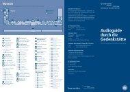 Audioguide durch die Gedenkstätte - Audioguide Dachau