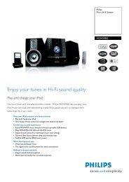 MCM398D/05 PHILIPS Micro Hi-Fi System