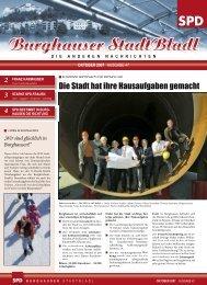 Aktiv – engagiert – kompetent – zielstrebig - SPD Burghausen