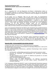 Das Kommunalwahlprogramm 2011-2016 - SPD-Ortsverein Bramsche