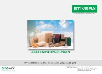 GESCHENKVERPACKUNGEN - Etivera Verpackungstechnik GmbH