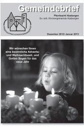 Gemeindebrief - Ev.-luth. Kirchengemeinde Hasbergen