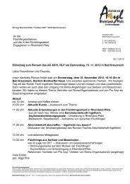 Einladung und Wegbeschreibung zum Plenum - Arbeitskreis Asyl ...