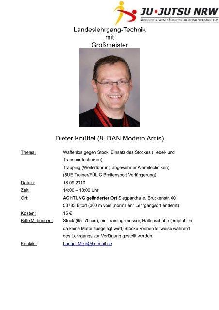 Landeslehrgang-Technik mit Großmeister Dieter Knüttel (8. DAN ...
