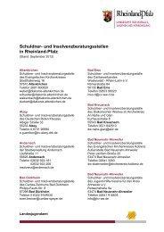Schuldner - in Rheinland-Pfalz