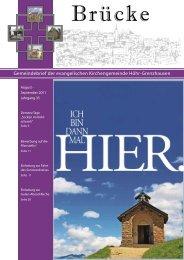 Gemeindebrief der evangelischen Kirchengemeinde Höhr ...