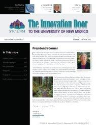 President's Corner - STC - University of New Mexico