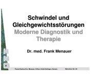 Schwindel und Gleichgewichtsstörungen Moderne Diagnostik und ...