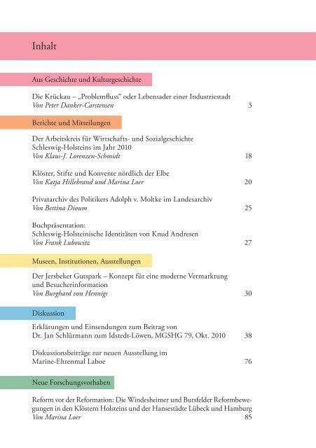 Mitteilungen 80 - Geschichte in Schleswig-Holstein