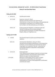 "Curriculum Seminar ""Heilendes Feld"" vom 26.3. – 28.3.2010 im ..."