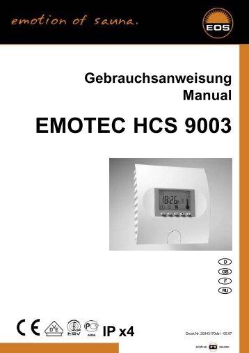 Bedienungsanleitung Emotec HCS 9003