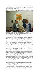 Adri Menheere en Dick Bruynzeel veertig jaar bij schietclub ...