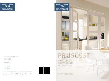 Prijslijst 2011 - Bruynzeel Deuren