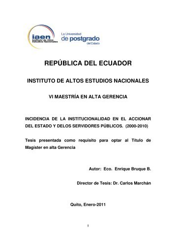 TESIS-ENRIQUE BRUQUE.001-2011.pdf - Repositorio Digital IAEN ...