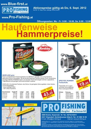 29.95 - PRO FISHING Angler-Fachmarkt