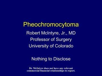 Pheochromocytoma - University of Colorado Denver