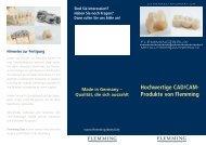 Hochwertige CAD/CAM- Produkte von Flemming - Flemming-Dental