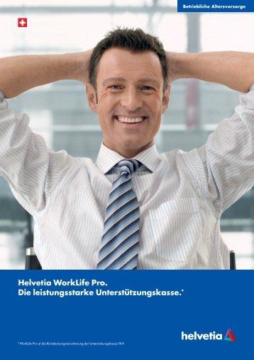 Helvetia WorkLife Pro. Die leistungsstarke Unterstützungskasse.*