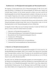 Funktionsweise von Flüssigkeitschromatographie und ...