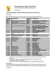Schulleitung Gipf-Oberfrick - Schule Gipf-Oberfrick