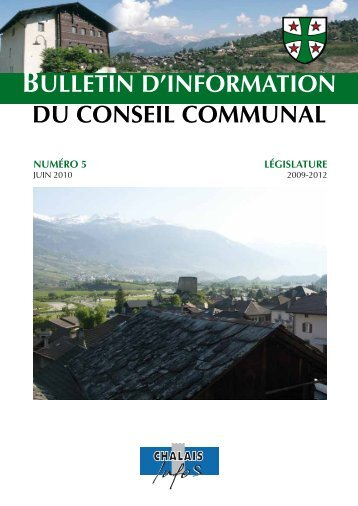 BULLETIN D'INFORMATION DU CONSEIL COMMUNAL - Chalais