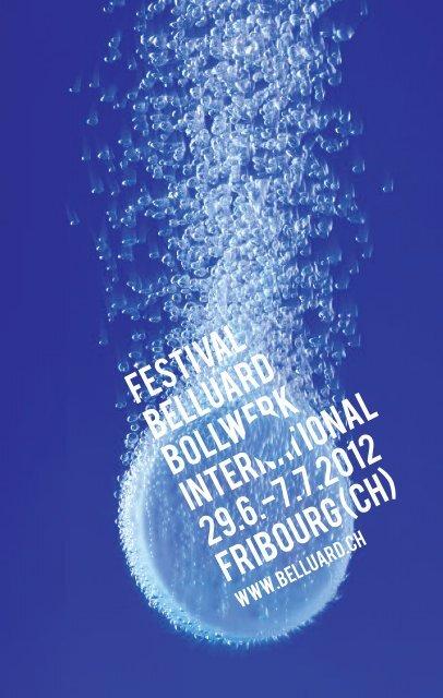 Programm als PDF - Festival Belluard Bollwerk International