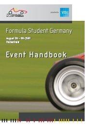 Event Handbook Event Handbook - Formula Student Germany