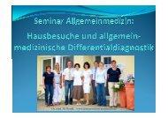 1.) Seminar - Allgemeinmedizin - Dr. med. M. Rendl, Dr. medic A ...