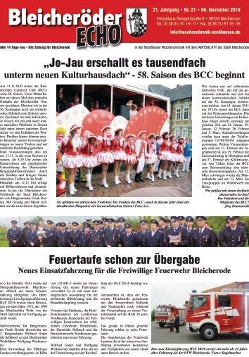 15.11.2010 - Nordhäuser Wochenchronik