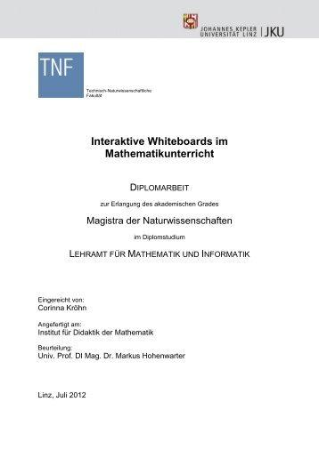 Interaktive Whiteboards im Mathematikunterricht - idmthemen