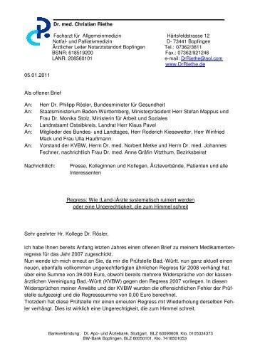 Pdf Offener Brief An Herrn Gesundheitsminister Dr Philipp