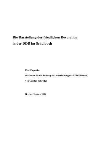 Die Darstellung der friedlichen Revolution in der DDR im Schulbuch