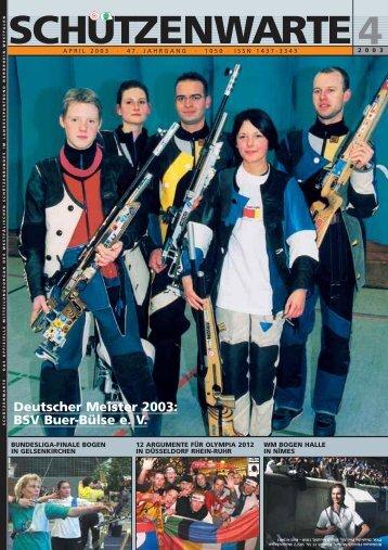 das offizielle mitteilungsorgan des - Schützenwarte - WSB