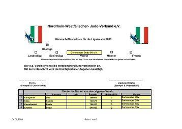 Dortmunder Budo SV - Nordrhein-Westfälischer Judo-Verband e.V.