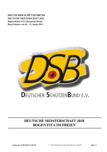 Deutsche Meisterschaften Bogen FITA 2010 - RSG Düren