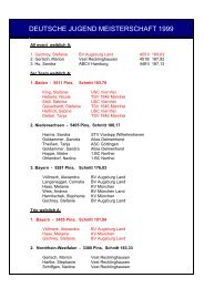 deutsche jugend meisterschaft 1999 - Deutsche Bowling Union