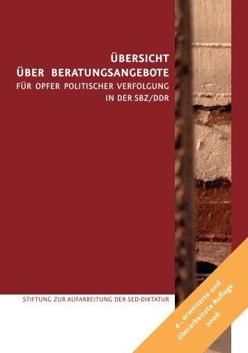 ÜBERSICHT ÜBER BERATUNGSANGEBOTE - Bundesstiftung zur ...
